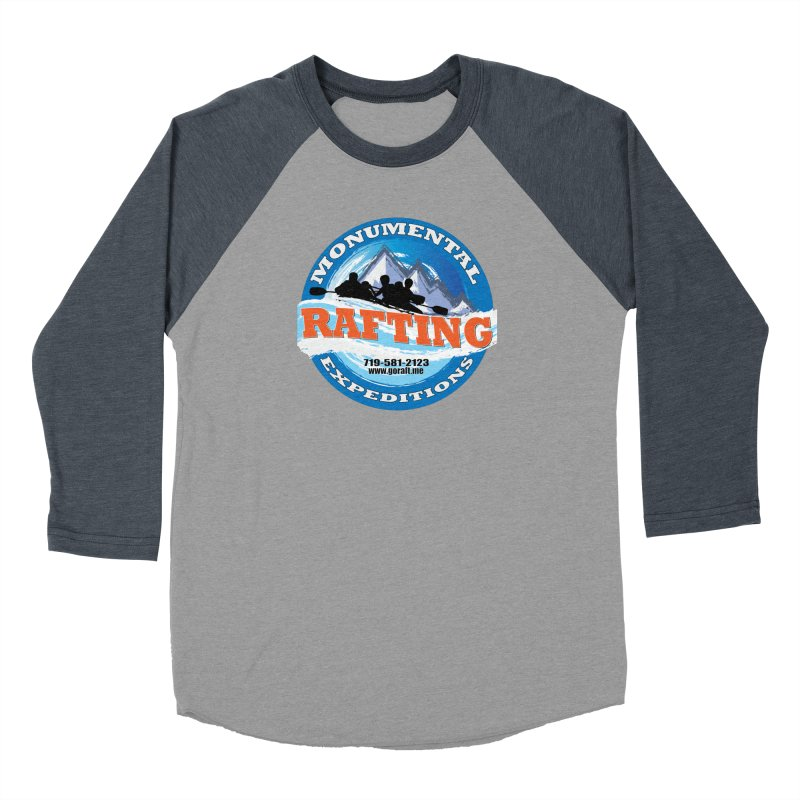 ME - Rafting Men's Baseball Triblend Longsleeve T-Shirt by Monumental Expeditions