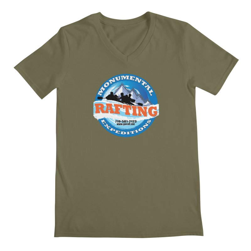 ME - Rafting Men's Regular V-Neck by Monumental Expeditions