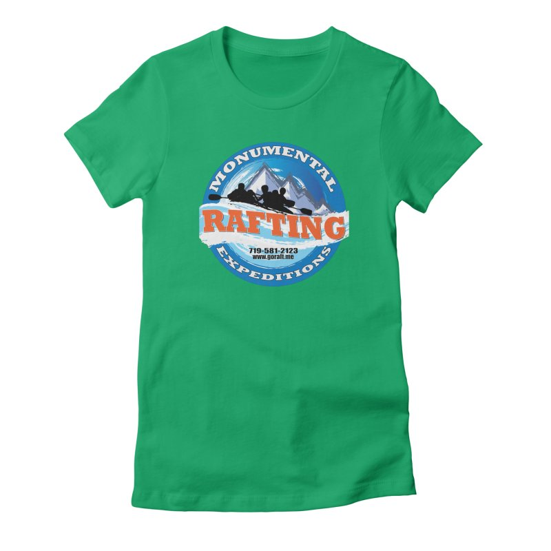 ME - Rafting Women's Fitted T-Shirt by Monumental Expeditions