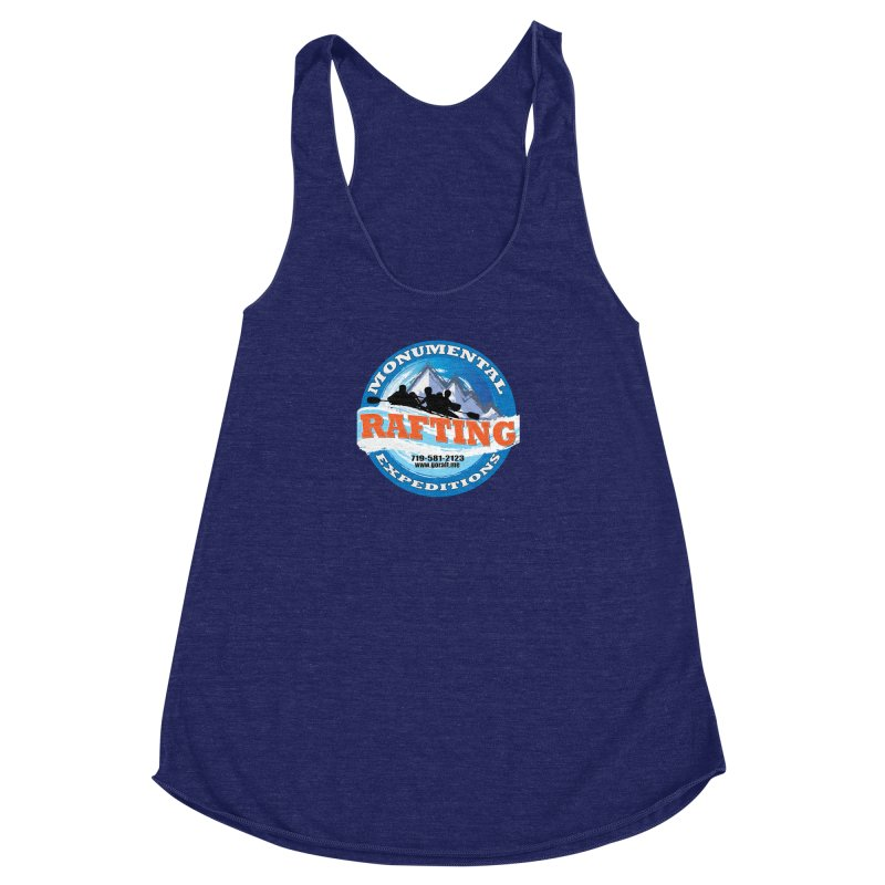 ME - Rafting Women's Racerback Triblend Tank by Monumental Expeditions