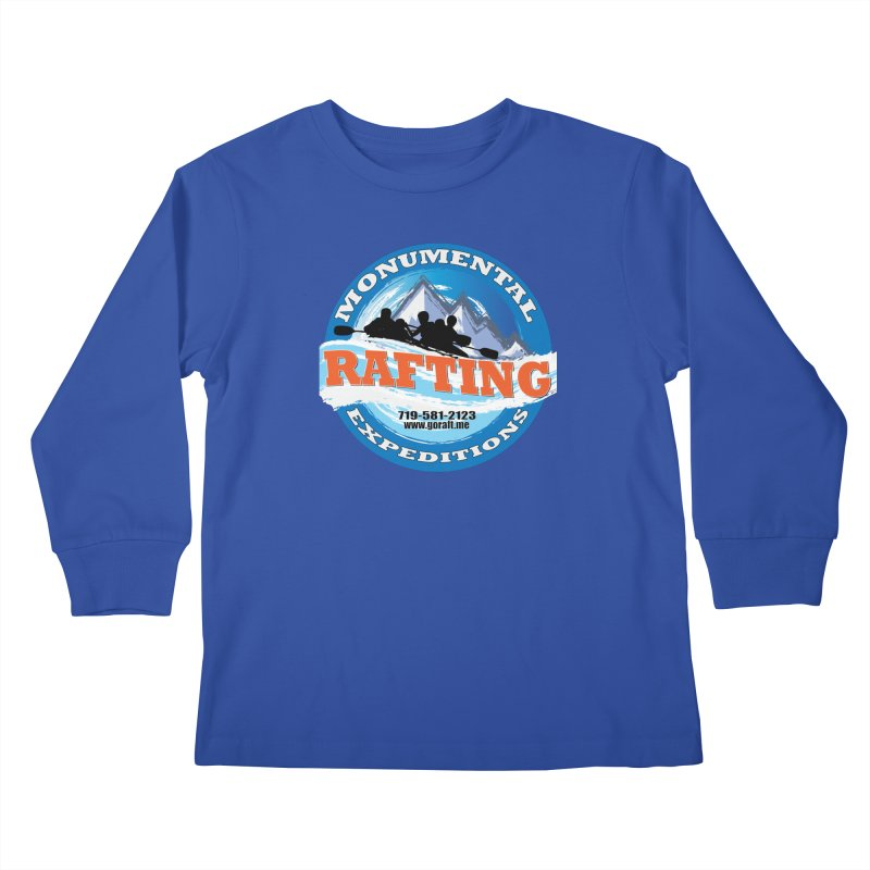 ME - Rafting Kids Longsleeve T-Shirt by Monumental Expeditions