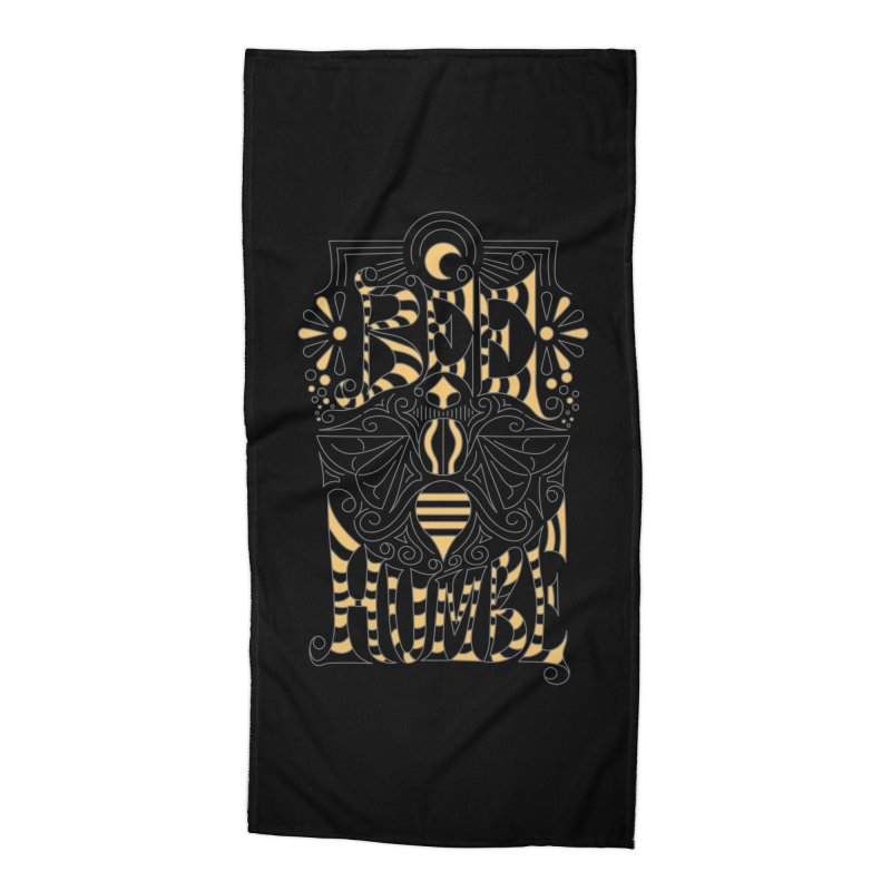 Bee Humble Accessories Beach Towel by Moon Bear Design Studio's Artist Shop