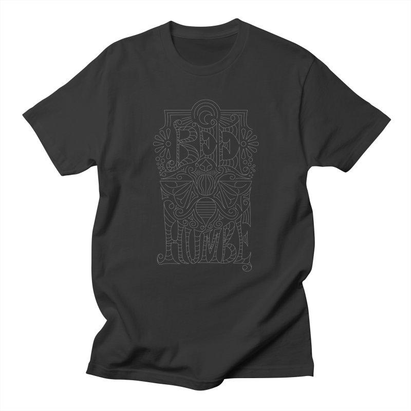 Bee Humble Women's Regular Unisex T-Shirt by Moon Bear Design Studio's Artist Shop