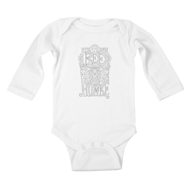Bee Humble Kids Baby Longsleeve Bodysuit by Moon Bear Design Studio's Artist Shop