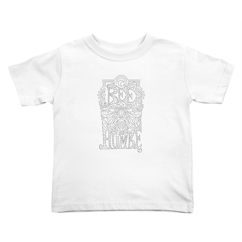 Bee Humble Kids Toddler T-Shirt by Moon Bear Design Studio's Artist Shop