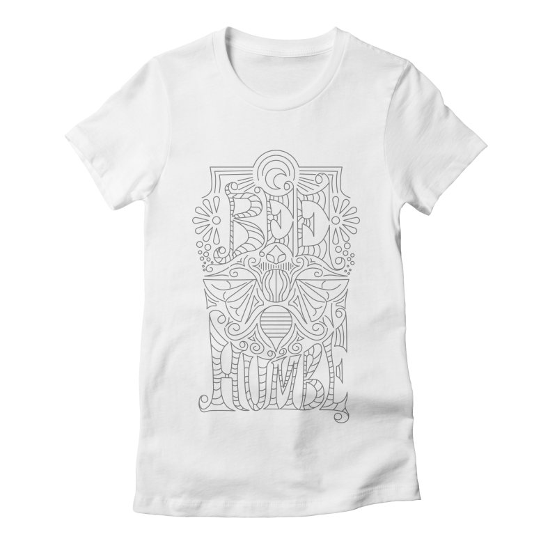 Bee Humble Women's Fitted T-Shirt by Moon Bear Design Studio's Artist Shop