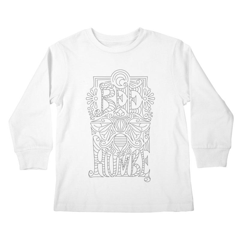 Bee Humble Kids Longsleeve T-Shirt by Moon Bear Design Studio's Artist Shop