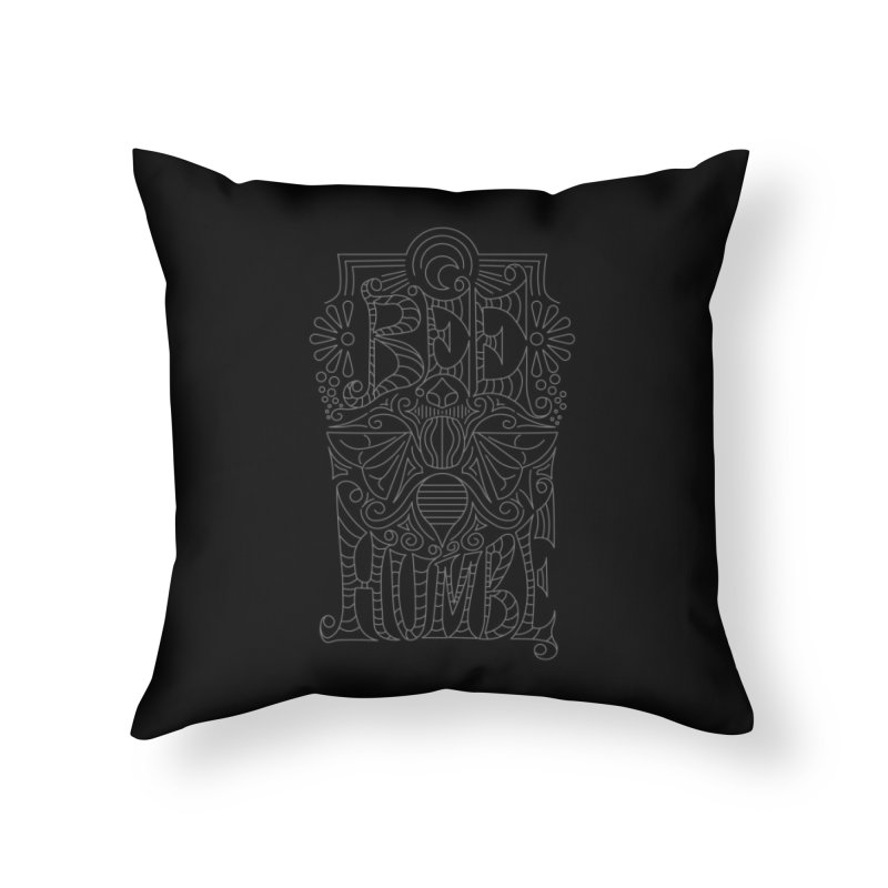 Bee Humble Home Throw Pillow by Moon Bear Design Studio's Artist Shop