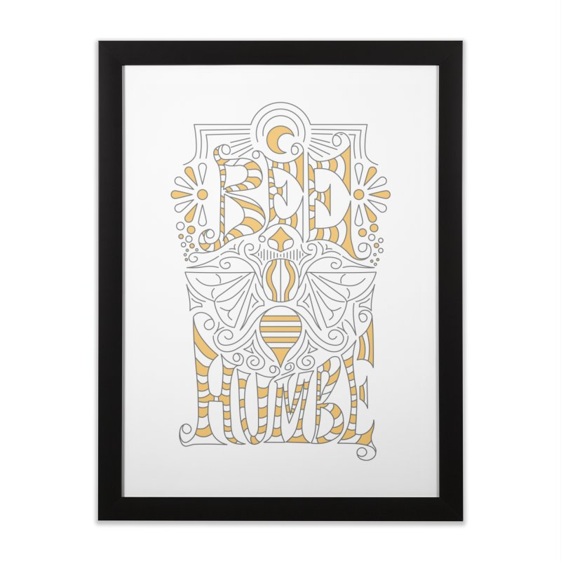 Bee Humble Home Framed Fine Art Print by Moon Bear Design Studio's Artist Shop