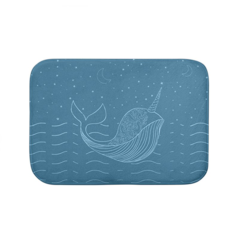 Do You Believe in the Magical Uni-Whale? Home Bath Mat by Moon Bear Design Studio's Artist Shop