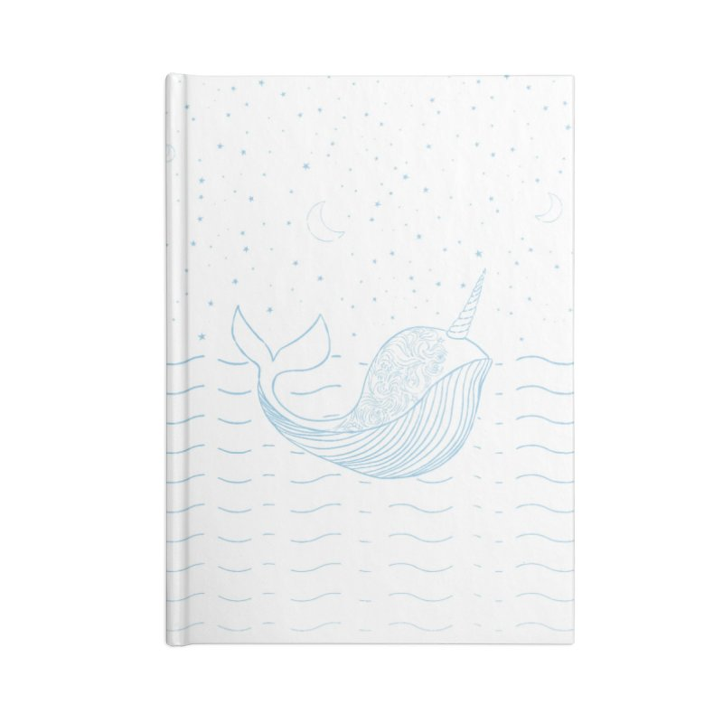 Do You Believe in the Magical Uni-Whale? Accessories Blank Journal Notebook by Moon Bear Design Studio's Artist Shop