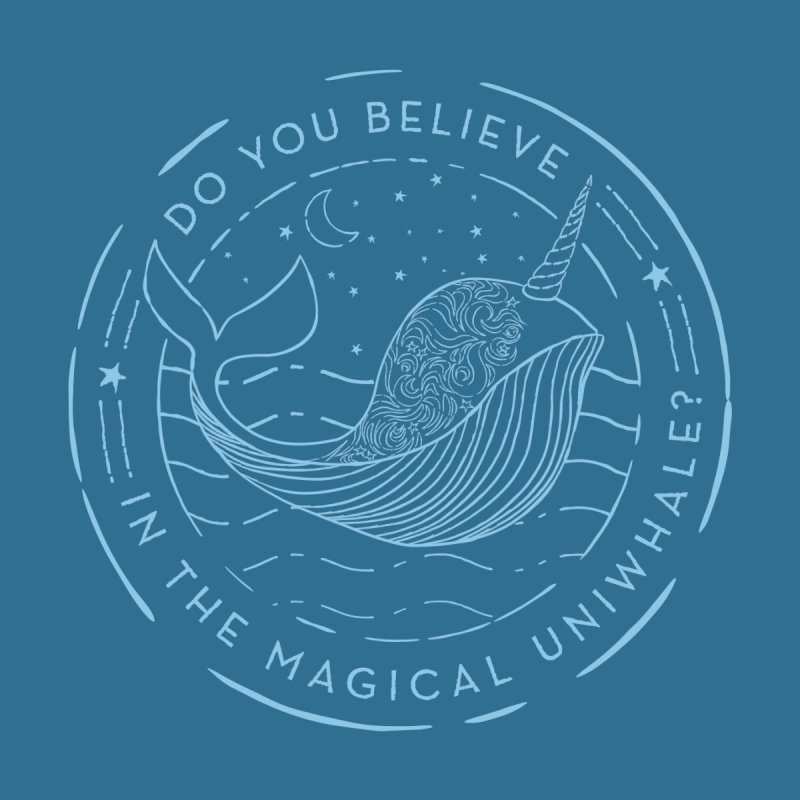 Do You Believe in the Magical Uni-Whale? Men's T-Shirt by Moon Bear Design Studio's Artist Shop