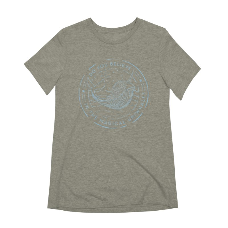 Do You Believe in the Magical Uni-Whale? Women's Extra Soft T-Shirt by Moon Bear Design Studio's Artist Shop
