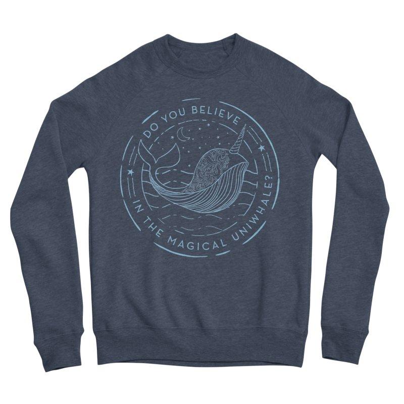 Do You Believe in the Magical Uni-Whale? Women's Sponge Fleece Sweatshirt by Moon Bear Design Studio's Artist Shop