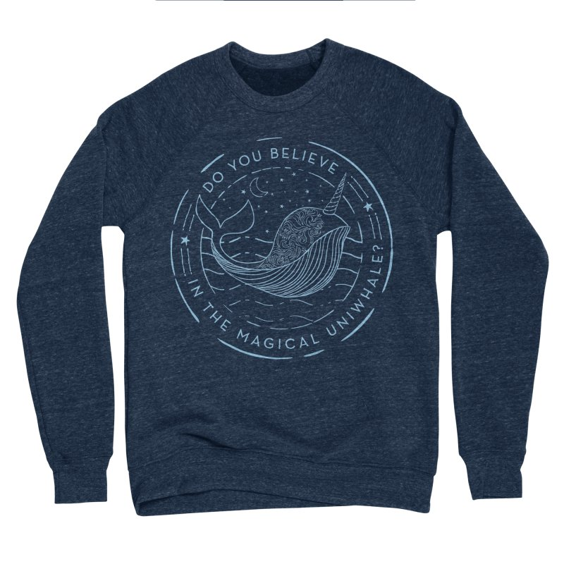 Do You Believe in the Magical Uni-Whale? Men's Sponge Fleece Sweatshirt by Moon Bear Design Studio's Artist Shop