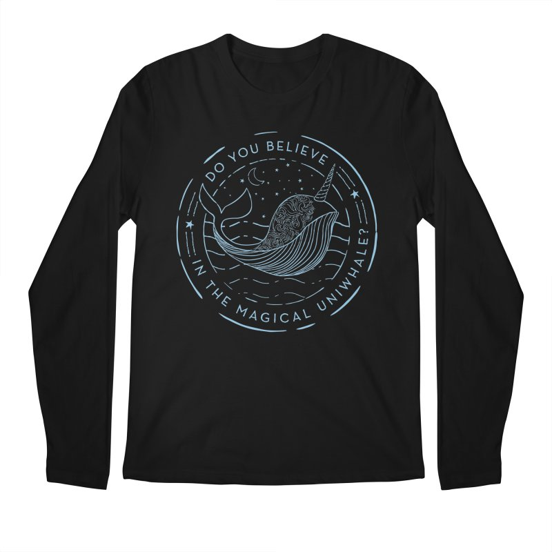 Do You Believe in the Magical Uni-Whale? Men's Regular Longsleeve T-Shirt by Moon Bear Design Studio's Artist Shop