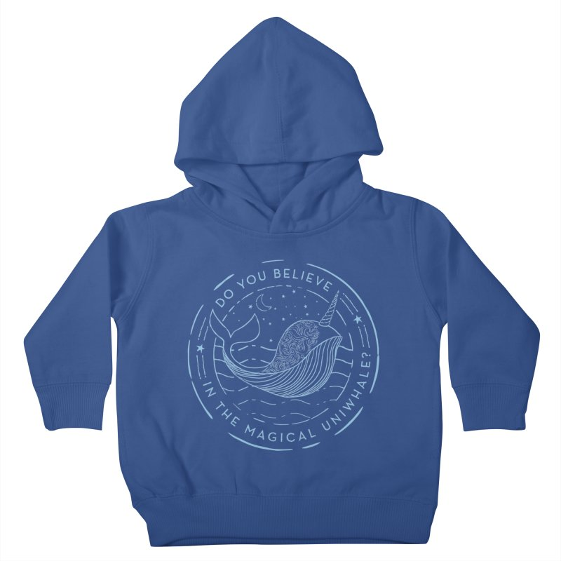 Do You Believe in the Magical Uni-Whale? Kids Toddler Pullover Hoody by Moon Bear Design Studio's Artist Shop