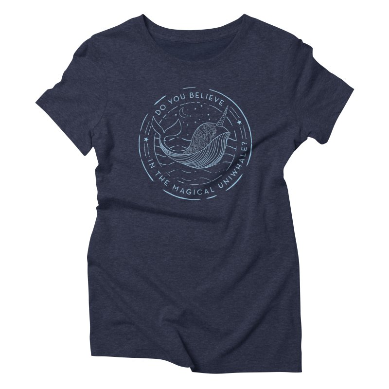 Do You Believe in the Magical Uni-Whale? Women's Triblend T-Shirt by Moon Bear Design Studio's Artist Shop