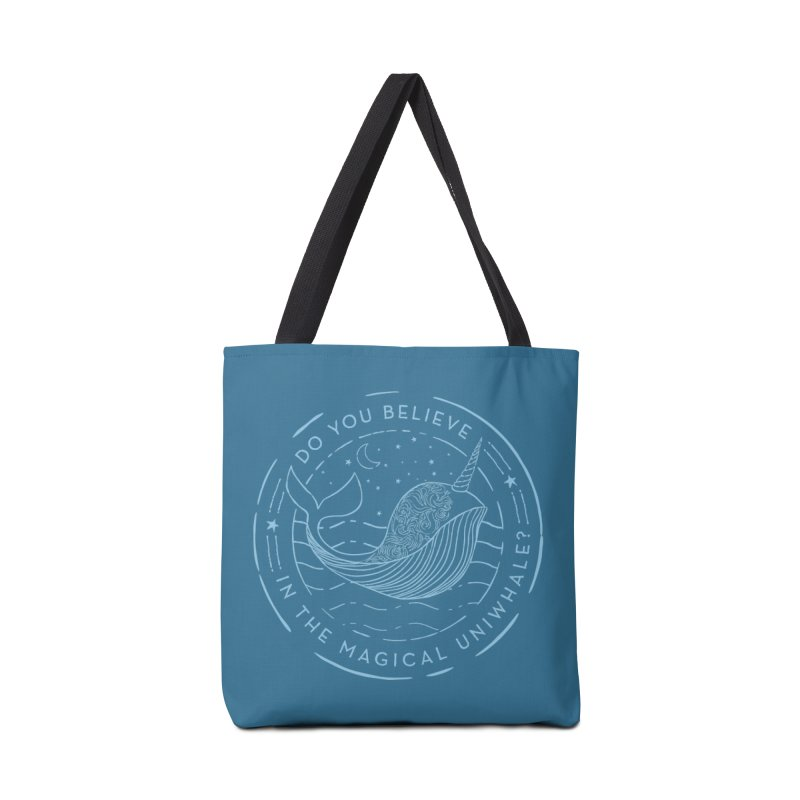Do You Believe in the Magical Uni-Whale? Accessories Tote Bag Bag by Moon Bear Design Studio's Artist Shop