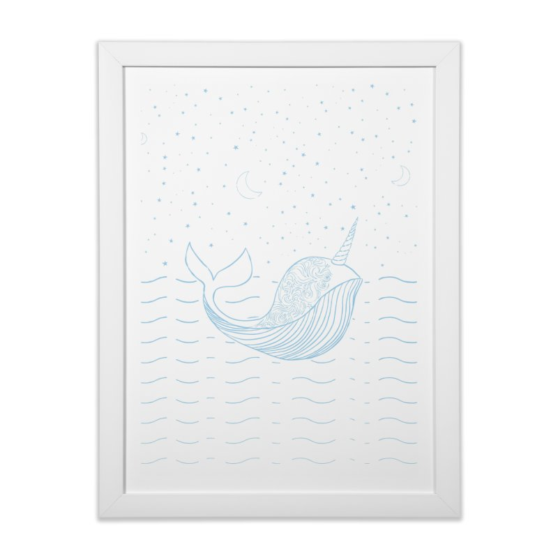 Do You Believe in the Magical Uni-Whale? Home Framed Fine Art Print by Moon Bear Design Studio's Artist Shop