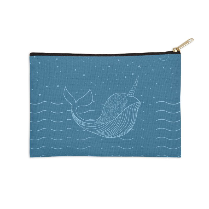 Do You Believe in the Magical Uni-Whale? Accessories Zip Pouch by Moon Bear Design Studio's Artist Shop