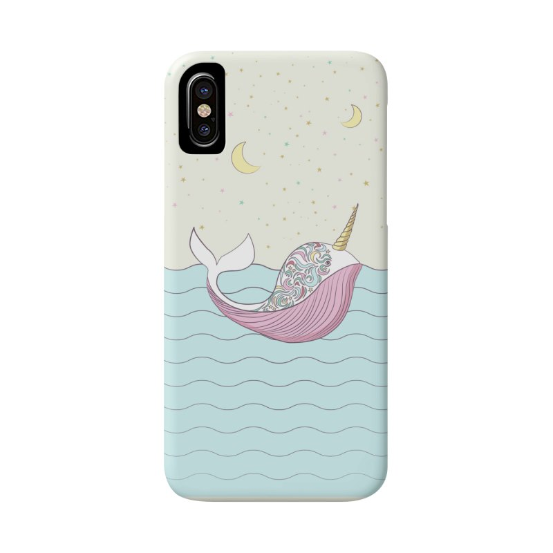 The Magical Uniwhale Accessories Phone Case by Moon Bear Design Studio's Artist Shop