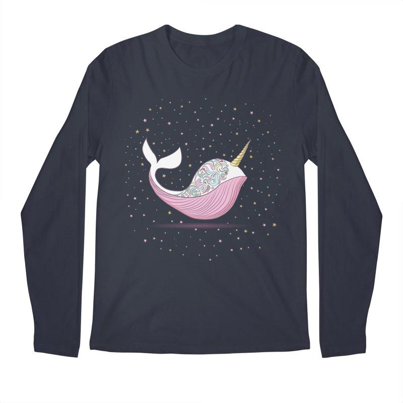 The Magical Uniwhale Men's Regular Longsleeve T-Shirt by Moon Bear Design Studio's Artist Shop