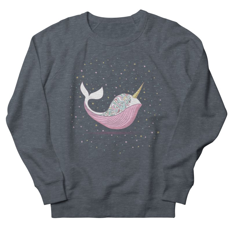 The Magical Uniwhale Women's French Terry Sweatshirt by Moon Bear Design Studio's Artist Shop