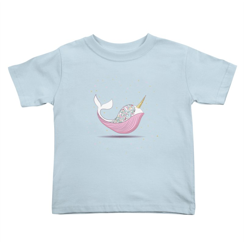 The Magical Uniwhale Kids Toddler T-Shirt by Moon Bear Design Studio's Artist Shop