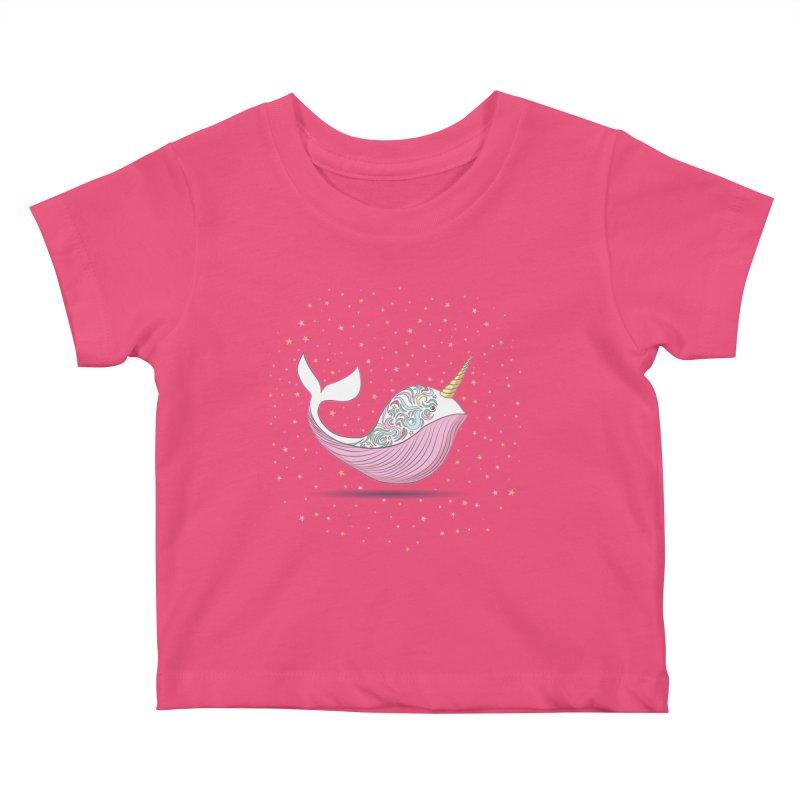 The Magical Uniwhale Kids Baby T-Shirt by Moon Bear Design Studio's Artist Shop