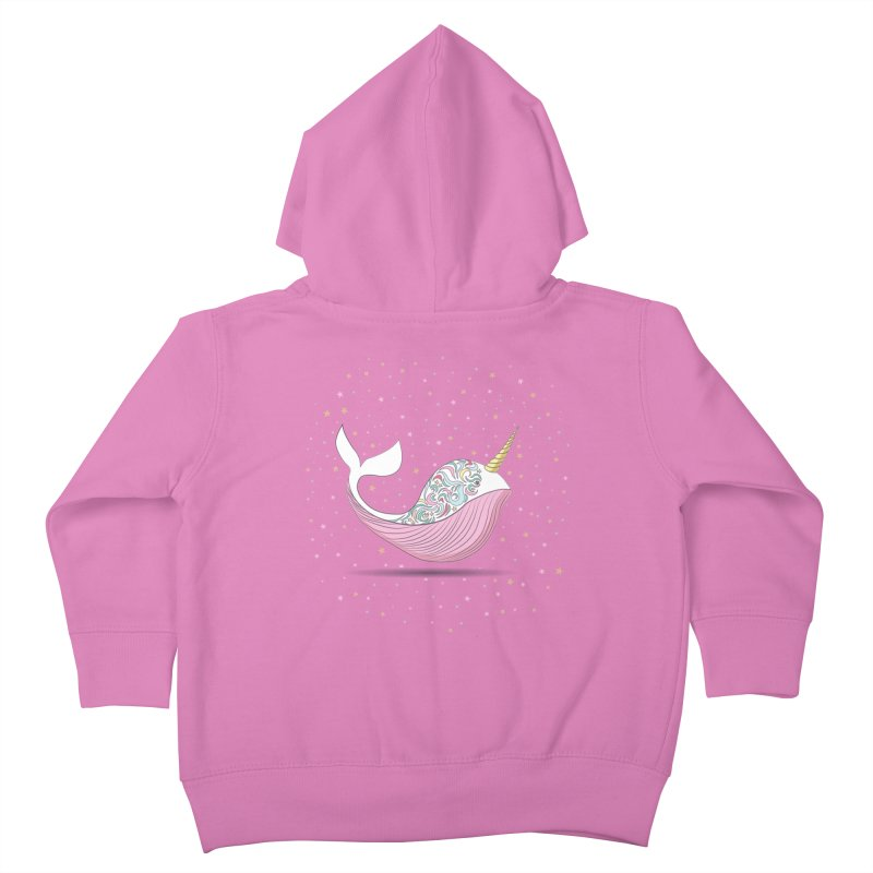 The Magical Uniwhale Kids Toddler Zip-Up Hoody by Moon Bear Design Studio's Artist Shop