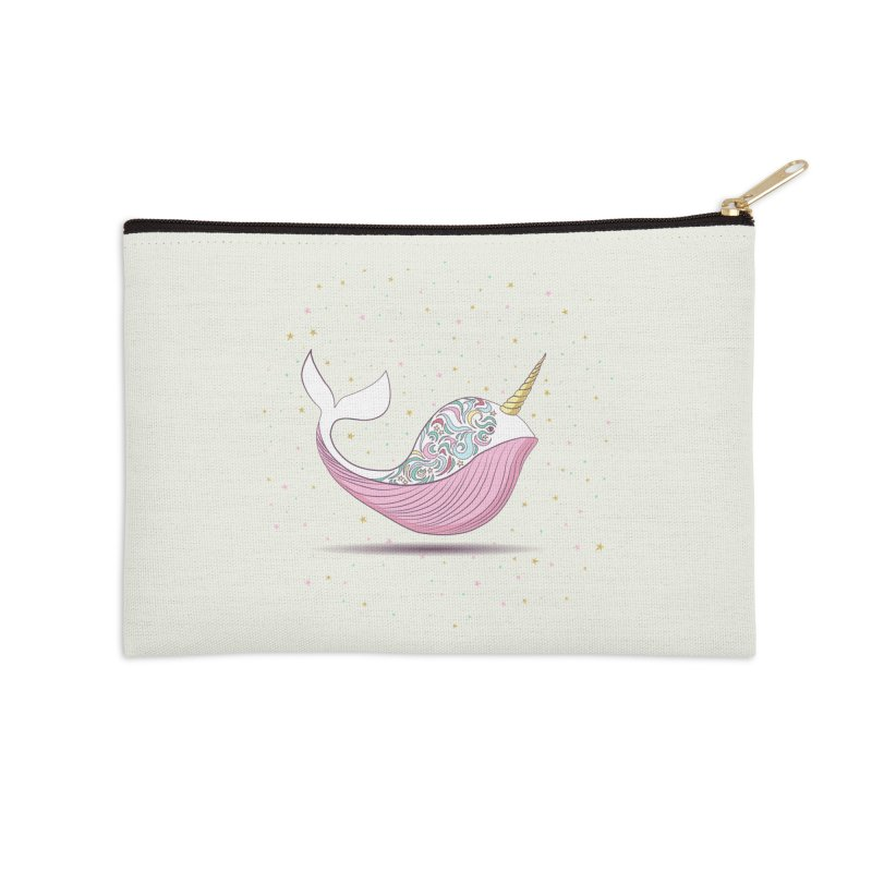 The Magical Uniwhale Accessories Zip Pouch by Moon Bear Design Studio's Artist Shop
