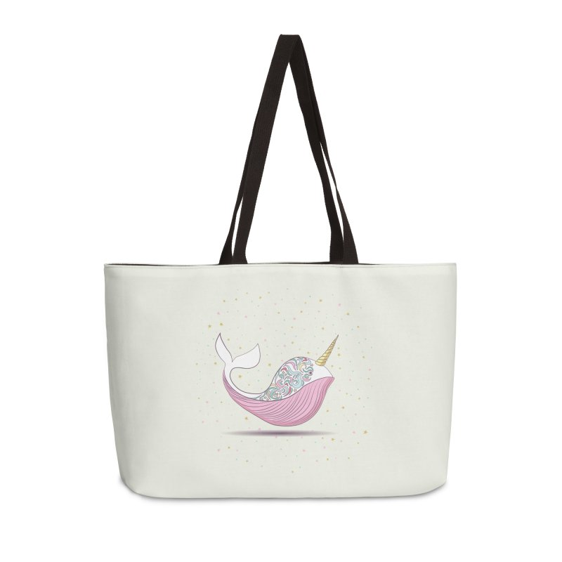 The Magical Uniwhale Accessories Weekender Bag Bag by Moon Bear Design Studio's Artist Shop