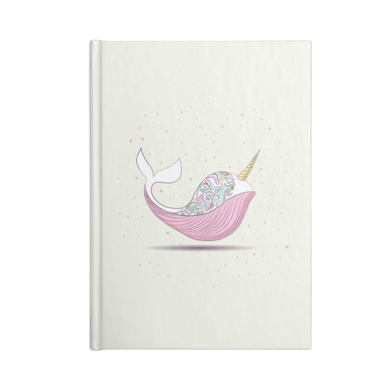 The Magical Uniwhale Accessories Blank Journal Notebook by Moon Bear Design Studio's Artist Shop