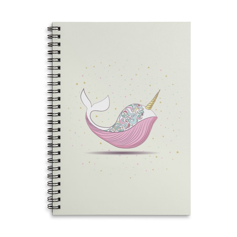 The Magical Uniwhale Accessories Lined Spiral Notebook by Moon Bear Design Studio's Artist Shop