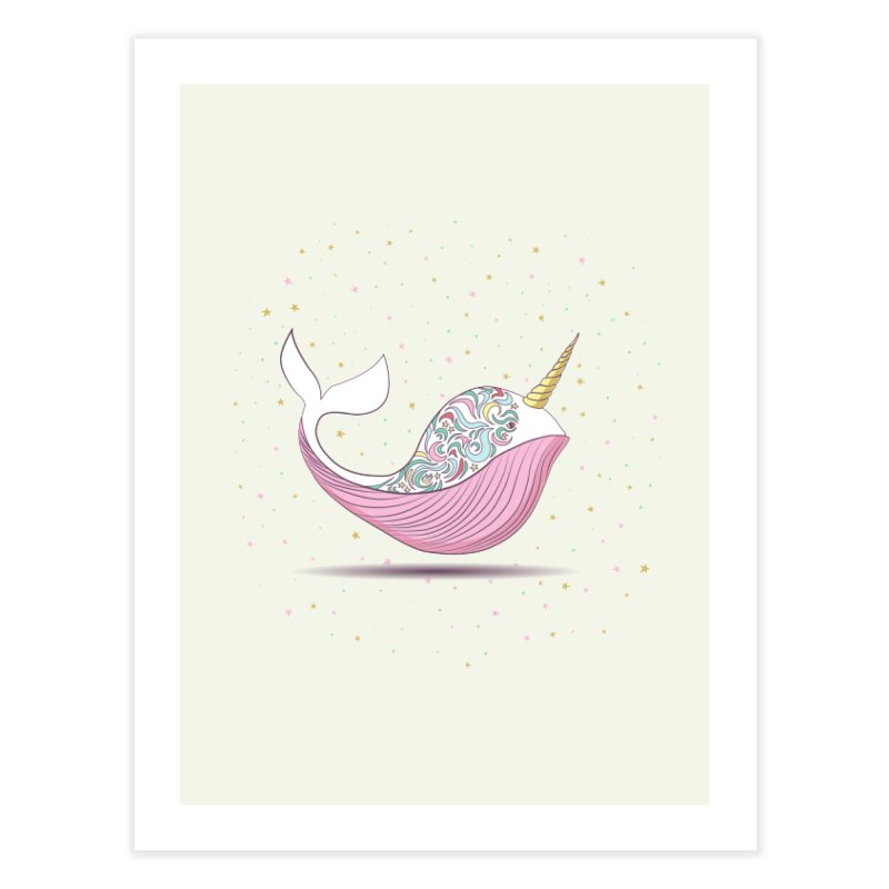 The Magical Uniwhale Home Fine Art Print by Moon Bear Design Studio's Artist Shop