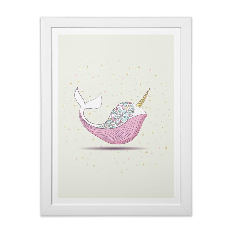 The Magical Uniwhale Home Framed Fine Art Print by Moon Bear Design Studio's Artist Shop