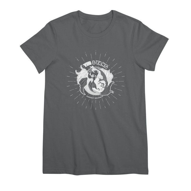 Coy Fish Yin and Yang - Perfect Balance Women's Premium T-Shirt by Moon Bear Design Studio's Artist Shop