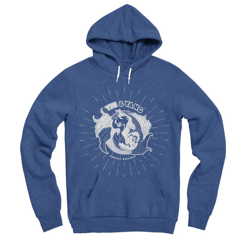 Coy Fish Yin and Yang - Perfect Balance Men's Sponge Fleece Pullover Hoody by Moon Bear Design Studio's Artist Shop