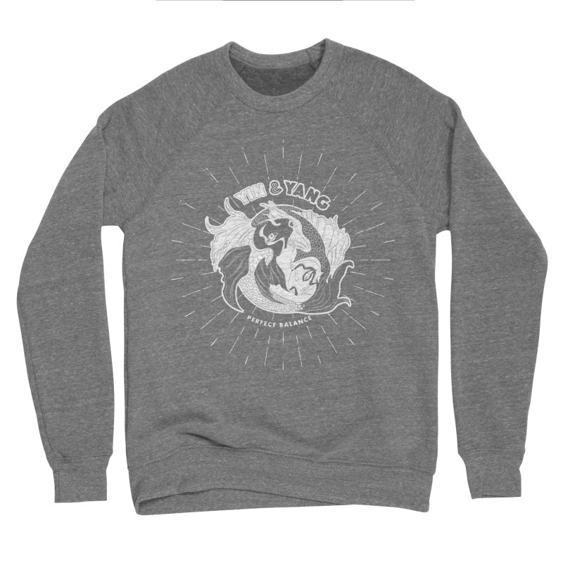 Coy Fish Yin and Yang - Perfect Balance Men's Sponge Fleece Sweatshirt by Moon Bear Design Studio's Artist Shop