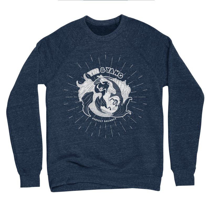 Coy Fish Yin and Yang - Perfect Balance Women's Sponge Fleece Sweatshirt by Moon Bear Design Studio's Artist Shop
