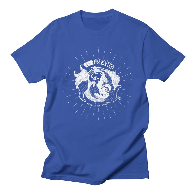 Coy Fish Yin and Yang - Perfect Balance Men's T-Shirt by Moon Bear Design Studio's Artist Shop
