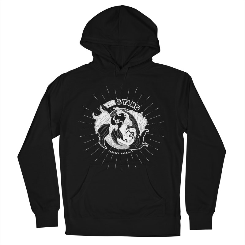 Coy Fish Yin and Yang - Perfect Balance Women's French Terry Pullover Hoody by Moon Bear Design Studio's Artist Shop