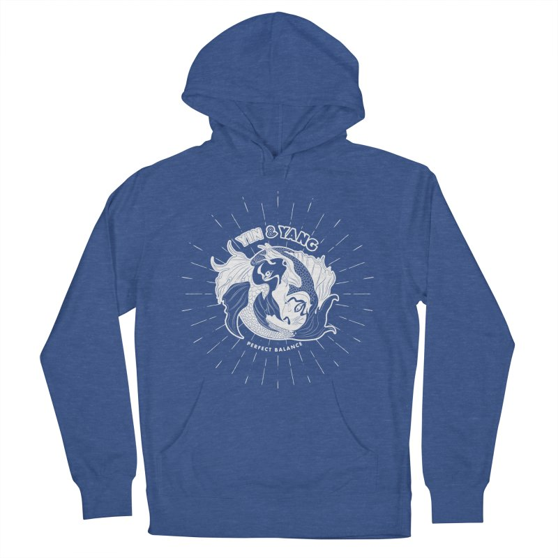 Coy Fish Yin and Yang - Perfect Balance Men's French Terry Pullover Hoody by Moon Bear Design Studio's Artist Shop