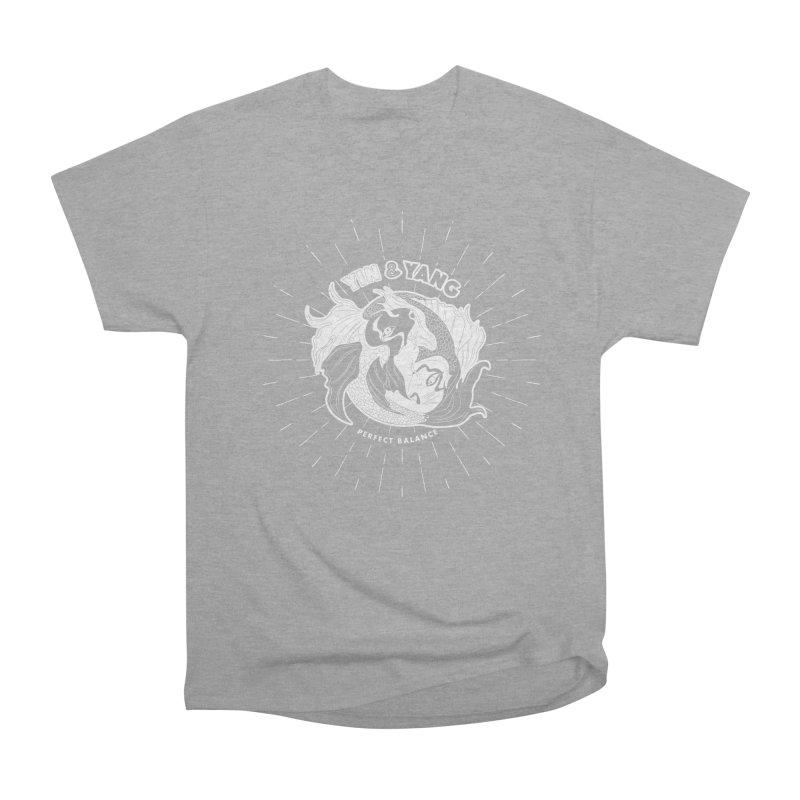 Coy Fish Yin and Yang - Perfect Balance Men's Heavyweight T-Shirt by Moon Bear Design Studio's Artist Shop
