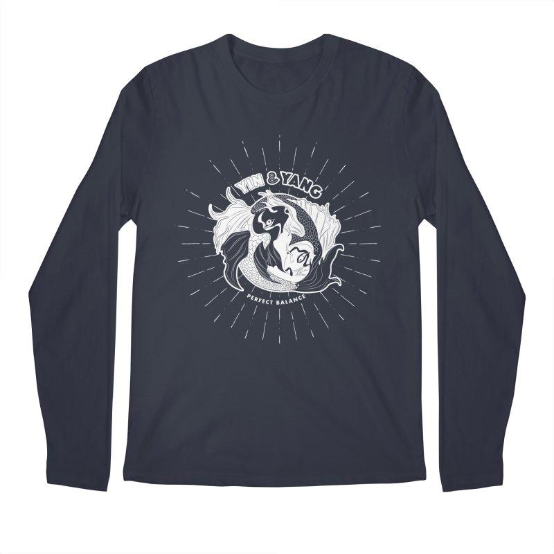 Coy Fish Yin and Yang - Perfect Balance Men's Regular Longsleeve T-Shirt by Moon Bear Design Studio's Artist Shop