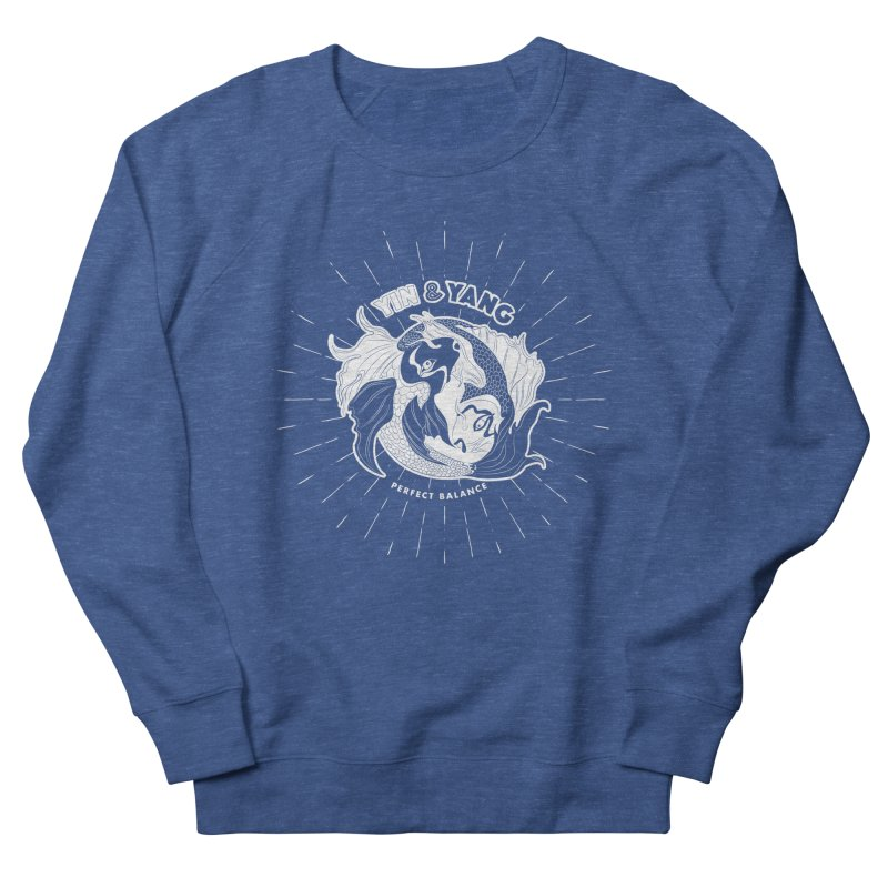 Coy Fish Yin and Yang - Perfect Balance Women's French Terry Sweatshirt by Moon Bear Design Studio's Artist Shop