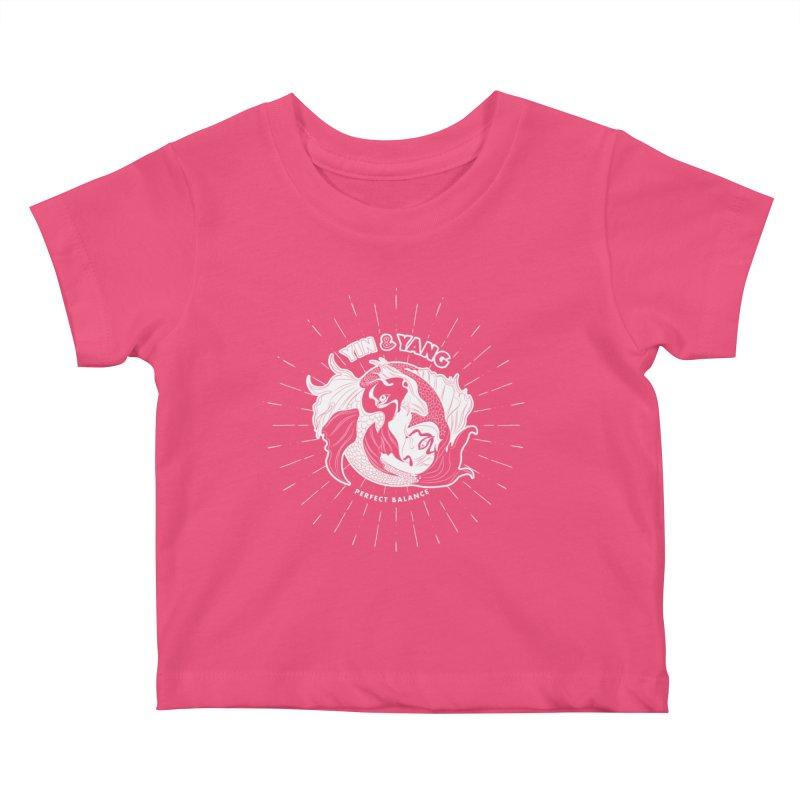 Coy Fish Yin and Yang - Perfect Balance Kids Baby T-Shirt by Moon Bear Design Studio's Artist Shop