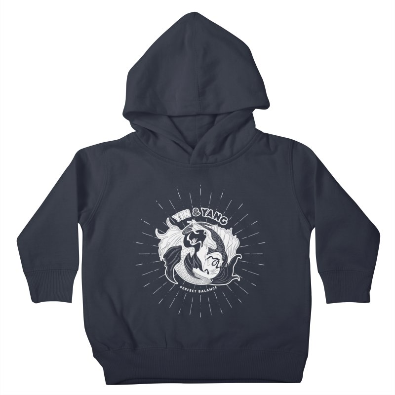 Coy Fish Yin and Yang - Perfect Balance Kids Toddler Pullover Hoody by Moon Bear Design Studio's Artist Shop