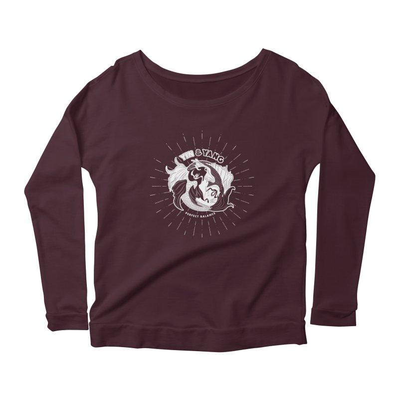 Coy Fish Yin and Yang - Perfect Balance Women's Scoop Neck Longsleeve T-Shirt by Moon Bear Design Studio's Artist Shop